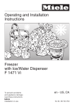 Miele F 1471 Refrigerator User Manual