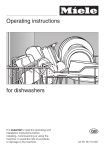 Miele dishwashers Dishwasher User Manual