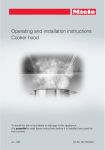 Miele 09 730 840 Ventilation Hood User Manual
