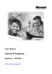 Microsoft SP5100/S IP Phone User Manual