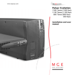 MGE UPS Systems 1100 Tower Power Supply User Manual