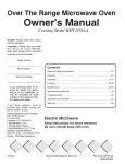 Maytag MMVS156AA Microwave Oven User Manual