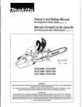 Makita DCS 7301 Chainsaw User Manual