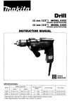 Makita 6270DWPE Drill User Manual