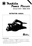 Makita 1911B Planer User Manual