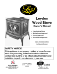 Lopi Stove Stove User Manual