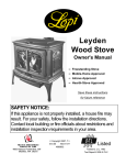 Lopi Leyden Wood Stove Stove User Manual