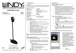 Lindy USB MiniCam Digital Camera User Manual