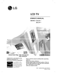 LG Electronics 19LD350 Flat Panel Television User Manual