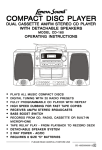 Lenoxx Electronics CD-160 CD Player User Manual