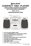 Lenoxx Electronics CD-149 CD Player User Manual