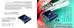 Legacy Car Audio LA-1478 Car Amplifier User Manual