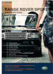 Land Rover Sport Automobile User Manual