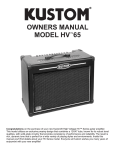 Kustom HV65 Stereo Receiver User Manual