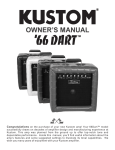 Kustom 66 Dart Stereo Amplifier User Manual