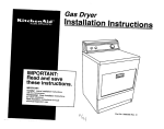 KitchenAid 3395306 Clothes Dryer User Manual