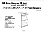 KitchenAid 3187360 Convection Oven User Manual