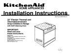 KitchenAid 3184873 Convection Oven User Manual