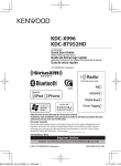 Kenwood KDC-X996 Car Stereo System User Manual