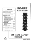 Kenmore 4779 Washer User Manual