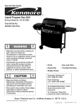 Kenmore 415.161108 Gas Grill User Manual