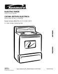Kenmore 362.6278 Range User Manual