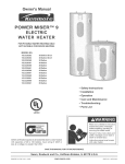 Kenmore 152.329361 Water Heater User Manual