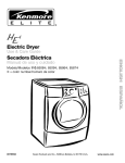 Kenmore 110.8508# Clothes Dryer User Manual