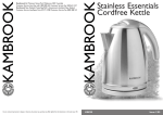 Kambrook KSK90 Hot Beverage Maker User Manual