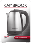 Kambrook KSK65 Hot Beverage Maker User Manual