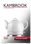 Kambrook KCT110 Hot Beverage Maker User Manual