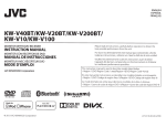 JVC KWV20BT Car Video System User Manual