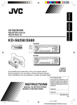 JVC KD-S580 Car Stereo System User Manual