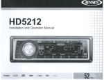 Jensen HD5212 Car Stereo System User Manual