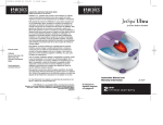 HoMedics JS-200P Pedicure Spa User Manual