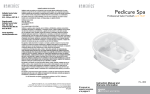 HoMedics HL-300 Pedicure Spa User Manual