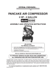 Harbor Freight Tools 95499 Air Compressor User Manual