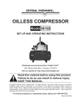 Harbor Freight Tools 90168 Air Compressor User Manual