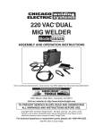 Harbor Freight Tools 55525 Welder User Manual