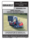 Gravely 89201800 Lawn Mower User Manual