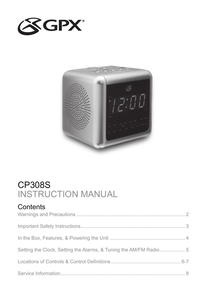 gpx cp308s clock radio user manual rh manualzilla com