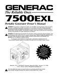 Generac 09779-2 Portable Generator User Manual