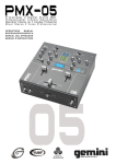 Gemini PMX-05 Music Mixer User Manual