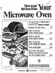GE 49-4560-1 Microwave Oven User Manual