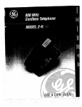 GE 2-9910 Cordless Telephone User Manual