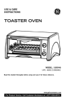 GE 169045 Toaster User Manual