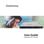 Gateway 9315 Network Router User Manual