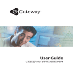 Gateway 7001 Series Network Card User Manual
