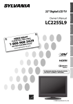 FUNAI LC225SL9 Flat Panel Television User Manual