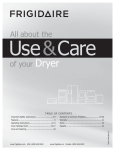 Frigidaire FAQE7072LR Clothes Dryer User Manual